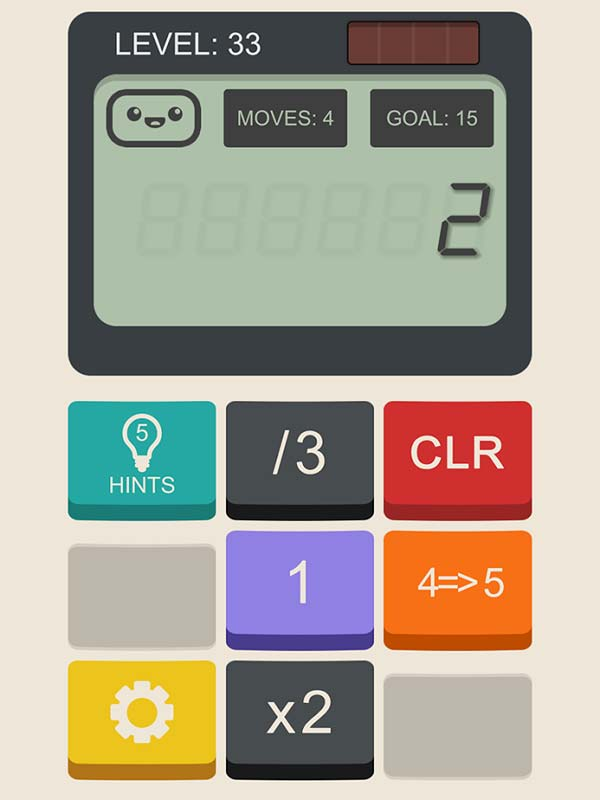 Calculator: The Game Walkthrough and Solutions All Levels 1