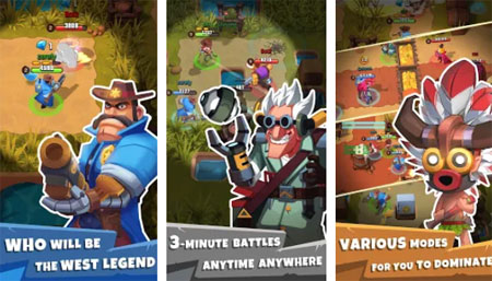 You could choose from game modes such as Jungle Raid, Beer Garden Brawl,  Train Heist, and Miner's Misfortune. Team up with your friends, or match  with ...